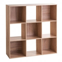 Étagère en bois à 9 cases MIX'nMODUL - Naturel