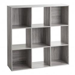 Étagère en bois à 9 cases MIX'nMODUL - Gris