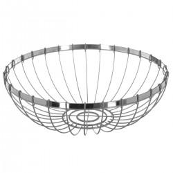 Corbeille en métal D30cm RETRO COLORS - Gris