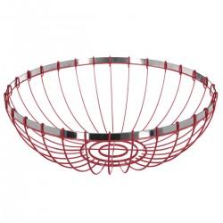 Corbeille en métal D30cm RETRO COLORS - Rouge
