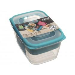 Lunch box avec couverts - Bleu