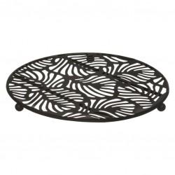 Dessous de plat en métal 18cm JUNGLE CHIC - Noir