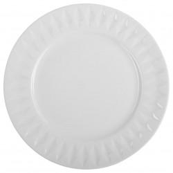 Assiette plate D27cm DIAMANT - Blanc