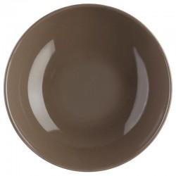 Assiette creuse D22cm - Taupe
