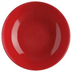 Assiette creuse D22cm - Rouge