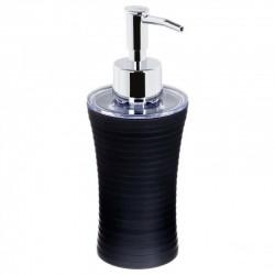 Distributeur de savon strié - Noir