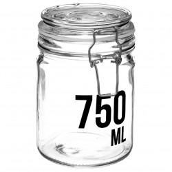 Bocal en verre capacité 750mL - Transparent