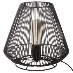 Lampe filaire à poser en métal H26cm PAULE - Noir