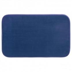 Tapis de salle de bain mémoire de forme 50X80cm - Bleu marine