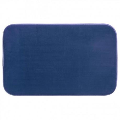 Tapis de chambre mémoire de forme 50X80cm - Bleu marine
