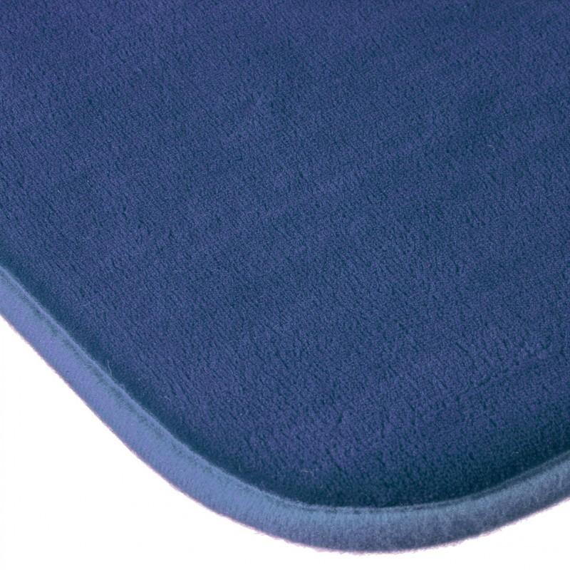 Tapis de chambre m moire de forme 50x80cm bleu marine - Tapis salle de bain bleu marine ...