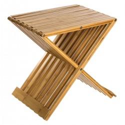 Tabouret en bambou pliante