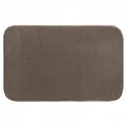 Tapis de salle de bain mémoire de forme 50X80cm - Taupe
