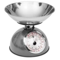 Balance de cuisine en métal RETRO COLORS - Gris