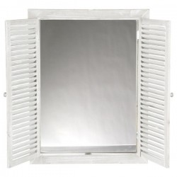 Miroir avec volets rabat 65X50cm - Blanc