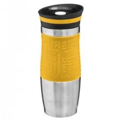 Mug isolant à double parois 35cL RETRO COLORS - Jaune