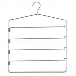 Cintre en métal pour 5 pantalons - Gris clair