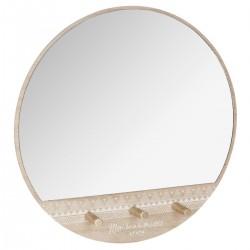 Miroir à patère ALLURE ETHNIQUE - Beige