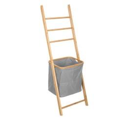Porte serviettes échelle avec panier - Gris