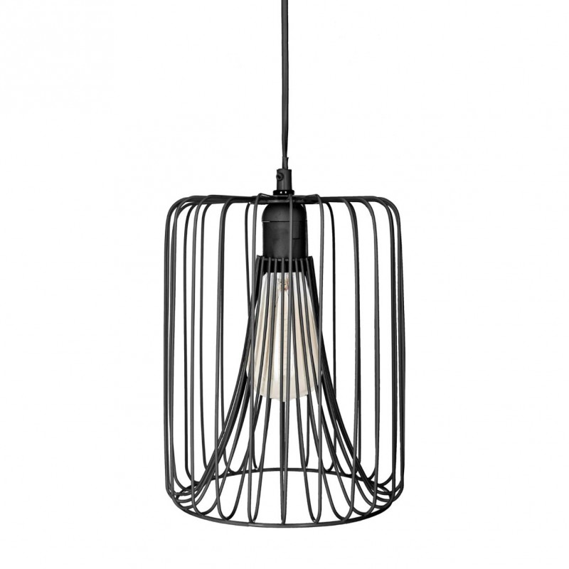 suspension filaire en m tal h25xd20cm noir veo shop. Black Bedroom Furniture Sets. Home Design Ideas