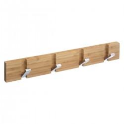 Patère en bambou à 4 têtes pliantes - Gris