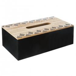 Boîte à mouchoirs ALLURE ETHNIQUE - Noir