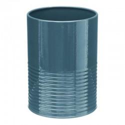 Pot/Égouttoir à ustensiles en métal - Bleu