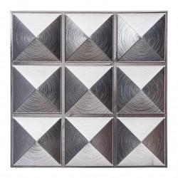 6 Stickers carrelage de 9 carrés 30X30cm - Argenté