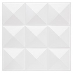 6 Stickers carrelage de 9 carrés 30X30cm - Blanc