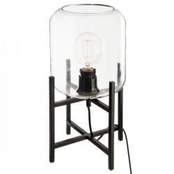 Lampe dôme en verre H35cm BLUSH LIVING - Noir