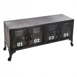 Meuble à 4 casiers SEVIN - Noir
