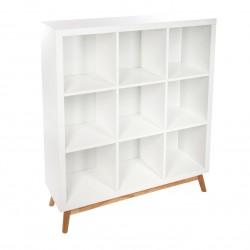 Bibliothèque à 9 cases ABAN - Blanc
