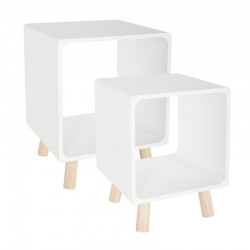 Lot de 2 tables de chevet COLOR BREAK - Blanc
