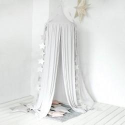 Ciel de lit polycoton ANGE - Blanc