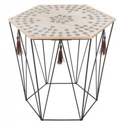 Table à café en métal KUMI, ALLURE ETHNIQUE - Noir