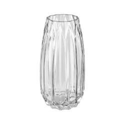 Vase en verre origami H25,5cm - Transparent