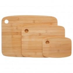 Lot de 3 planches à découper en bambou