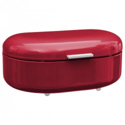 Boîte à pain en métal RÉTRO COLORS - Rouge