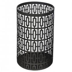 Photophore en métal H15,5 SPIRITUAL HOME - Noir