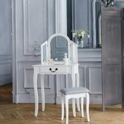 Coiffeuse petit modèle AURELL - Blanc