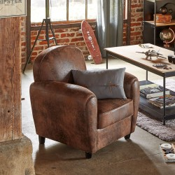 Fauteuil club STANIS - Marron