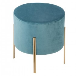 Tabouret en velours BLUSH LIVING - Bleu