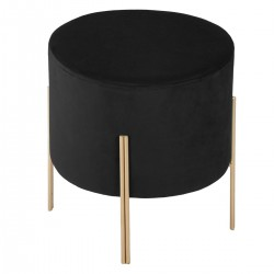 Tabouret en velours BLUSH LIVING - Noir