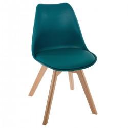 Chaise dîner BAYA - Bleu canard