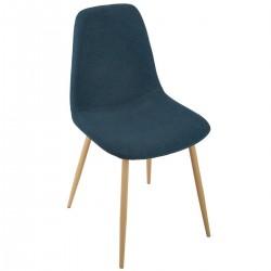 Chaise en tissu ROKA - Bleu denim