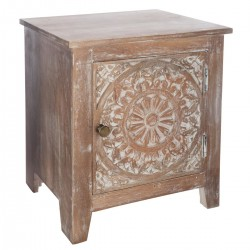 Table de chevet SHIREL, ALLURE ETHNIQUE - Marron