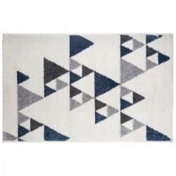 Tapis à motifs triangles 120X170cm ILAN - Bleu
