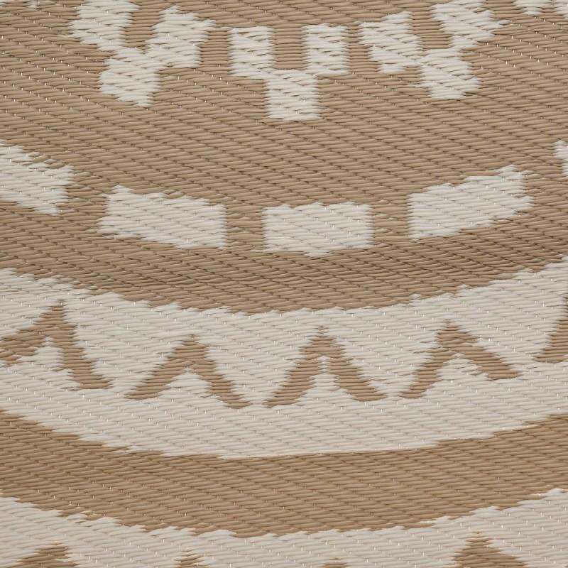 tapis rond rosace en plastique d150cm lin veo shop. Black Bedroom Furniture Sets. Home Design Ideas