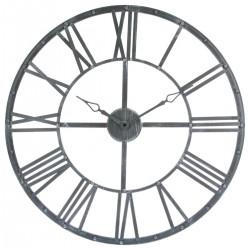 Pendule en métal D70cm VINTAGE - Gris