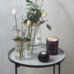 Lot de 2 vases à couvercle rosace en métal FLOWER FACTORY - Doré